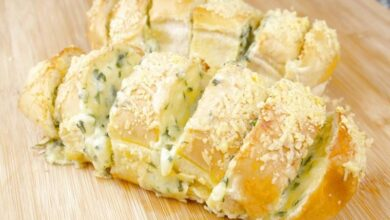 Receita de pão de alho caseiro simples