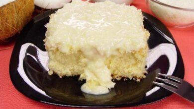 Receita de bolo de leite com coco 390x220 - Receita de bolo de leite com coco