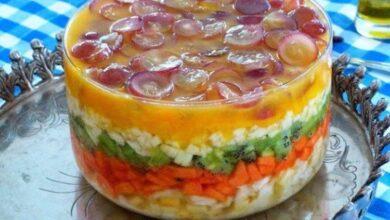 Receita de Salada de Frutas em Camadas